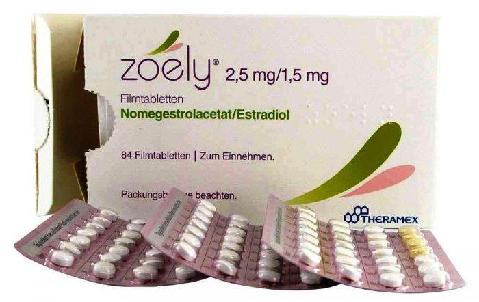 Pastillas anticonceptivas Zoely